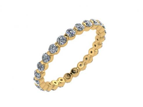 Diamond Single Shared Prong Yellow Gold Band1.jpg